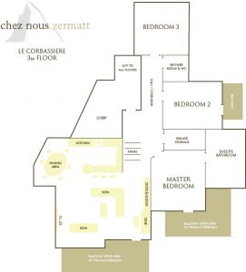 Le Corbassiere floor plan