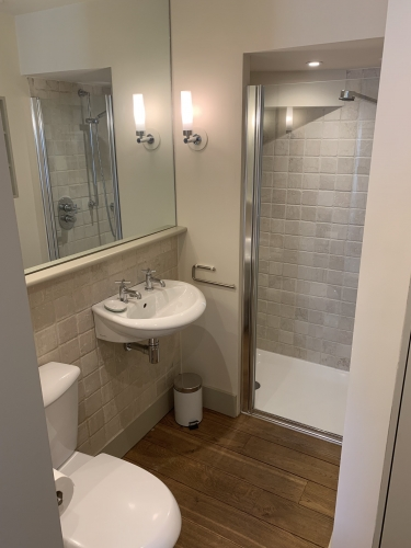 First floor bathroom with separate shower cubicle