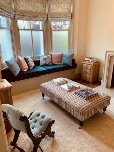Front sitting room with bay window to street