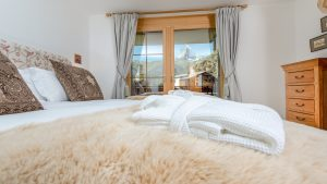 Where else can you lie in bed and gaze at The Matterhorn?