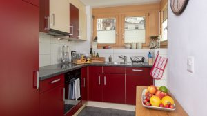 The kitchen is well equipped if you want to cook at home