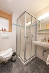 There is a shower room next to Bedroom 2